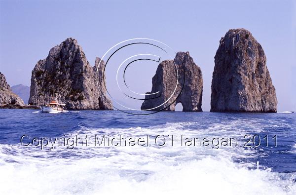 Capri Island (Faraglioni Sea Stacks), Bay of Naples Ref. # F698.S12.10a