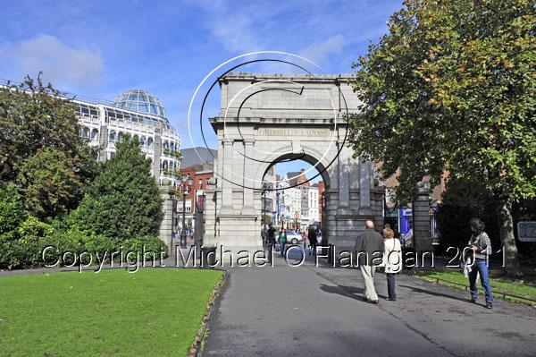 Dublin (Fusiliers' Arch, St. Stephen's Green) Ref. # DSC4059