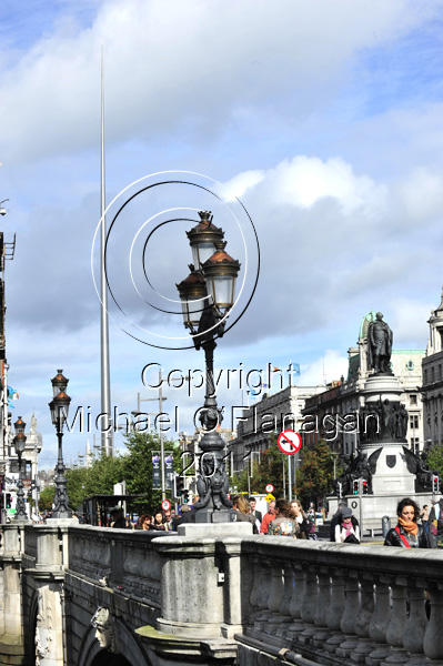 Dublin (O'Connell Bridge & The Spire) Ref. # DSC4139Adj