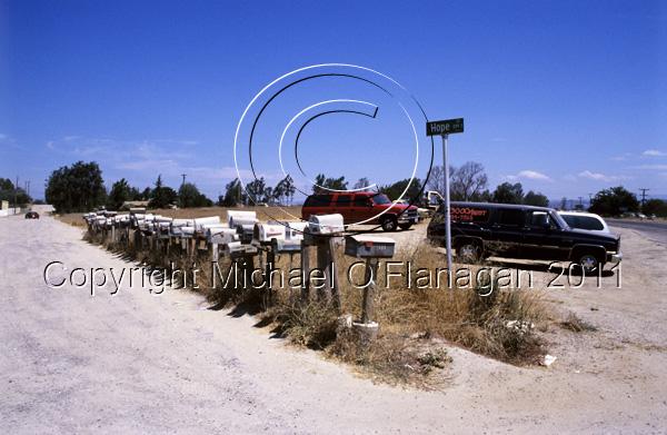 Hope Street Post Boxes near San Diego, California Ref. # F535.1a