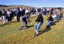 Inis Oirr Ladies Tug-of War Team at Currach Races, Inis Meain Ref. # FC736.27a