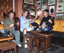 Johnny (Ringo) McDonagh, Ronan O'Flaherty & Conor McCague at Tigh Ned's, Inis Oirr Ref. # FC794.25a