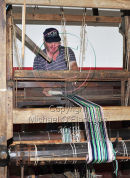 Mairtin Taimin O'Conghaile working his Loom, Inis Oirr Ref. # DSC9285CR