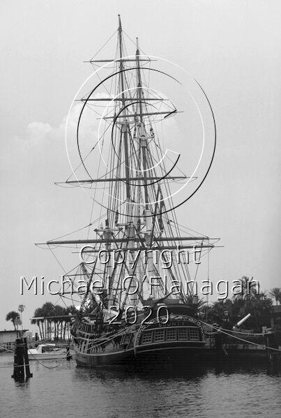 Replica of HMS Bounty at St. Petersburg, Florida, U.S.A. (August, 1984). Sunk off North Carolina, U.S.A. (October, 2012) Ref. # F85.23MBWCR