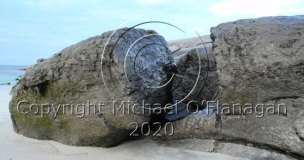 Rocks on Beach near Boat House, Inis Oirr, Aran Islands Ref. # DSCN1069CR