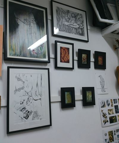 Finally paintings up and ready for Open Studios at Glasgow's WASPS Studios.