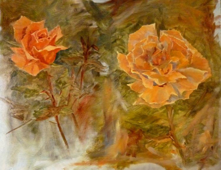 alla prima rose sketch