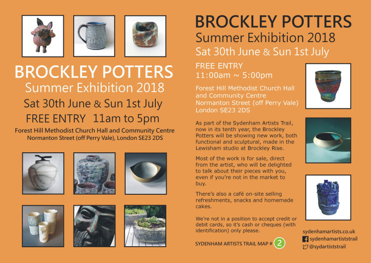 BROCKLEY POTTERS FLYER 2018