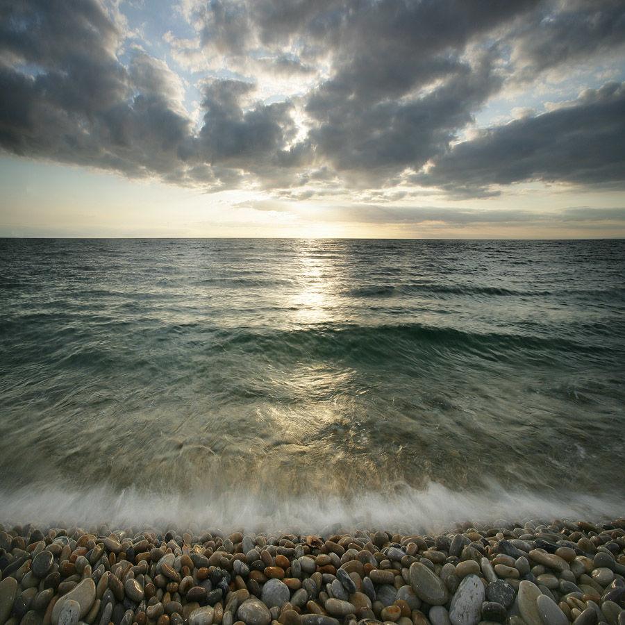 Sundown at Chesil Beach