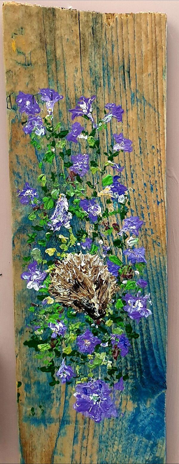 Hedgehog on Driftwood