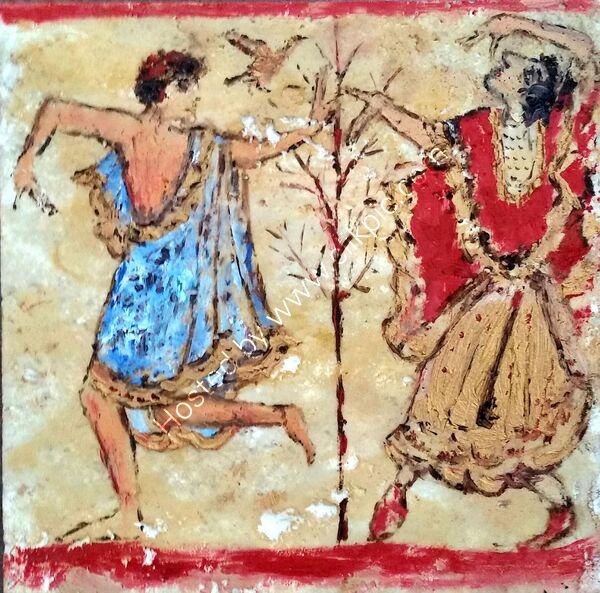 etruscan dancers