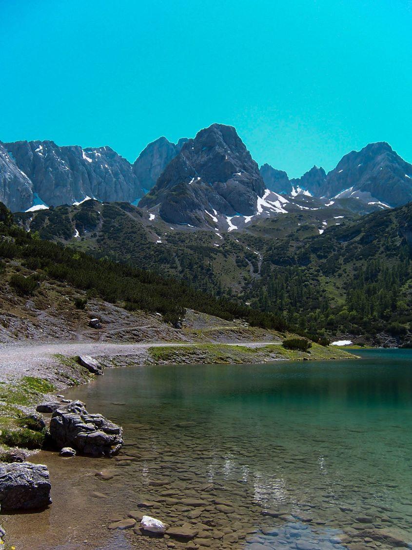 Alpine lake by James Mason