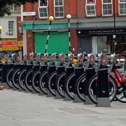 Boris Bikes by Jackie Poulter
