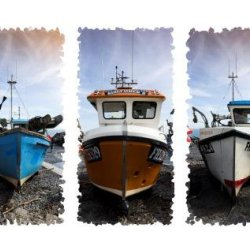 Cornish fishing boats by Iain MaCallum