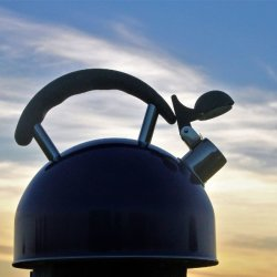 Kettle at night