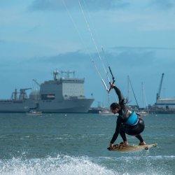 Kite Surfer by Lyn Sharples