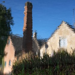 Lower Slaughter Reflection by Lyn Sharples