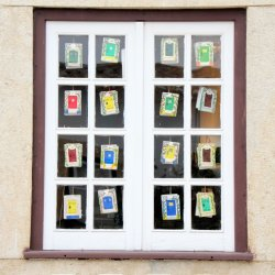Window of Doors Obidos by Jill Richards