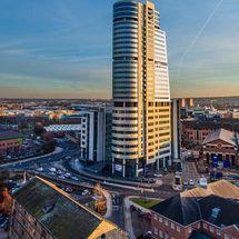 Bridgewater Place, Golden Sunset, Leeds Centre (Portrait)