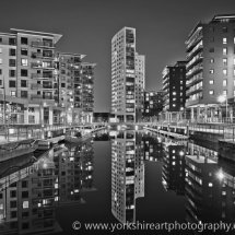 Clarence Dock monochrome, Leeds, UK