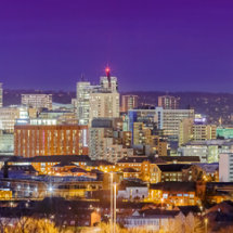 Leeds Skyline at Night (pano)