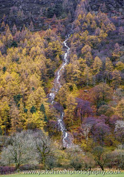 Sourmilk Gill in autumn. Buttermere, Lake District, Cumbria. UK