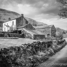Cottage and Lane. Dent, Yorkshire Dales, Cumbria.