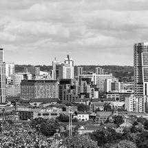 Leeds Skyline (B&W)