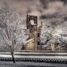 Kirkstall Abbey winter night, Leeds