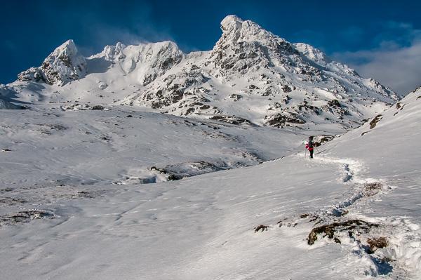 Winter walking on Ben Arthur, The Cobbler