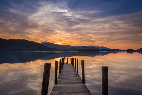 Derwentwater Jetty at Sunset