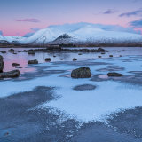Winter sunrise at Lochan na h-Achlaise on Rannoch Moor