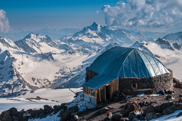 Burnt out remains of the Pruit Hut, Elbrus