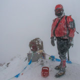 Summit of Elbrus in poor weather