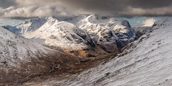 Glencoe Three sisters in winter