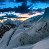 From Gondogoro La looking over to Gasherbrum IV at sunrise