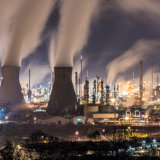 The Cauldron, Grangemouth Refinery at Night