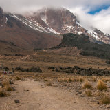 Approaching the Lava Tower on Kilimanjaro
