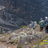 Descending into the valley at Barranco Camp