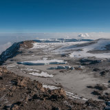 The western Breach and Kilimanjaro snowfields