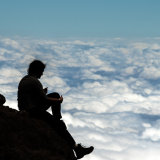 The Thinker above the clouds, Kilimanjaro