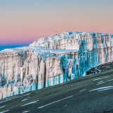 Rebmann Glacier at sunrise, Kilimanjaro