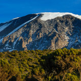 Looking up to Kilimanjaro's Glaciers