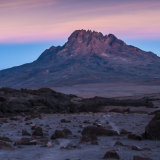 Evening glow on Mawenzi from Kibu Huts, Kilimanjaro