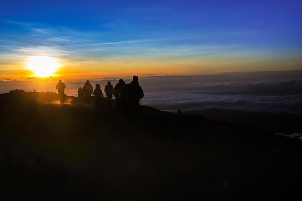 Trekkers approaching Summit of Kilimanjaro