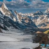 Laila Peak, in Karakoram mountains in Pakistan