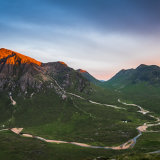 Alpenglow on Buachaille Etive Mor