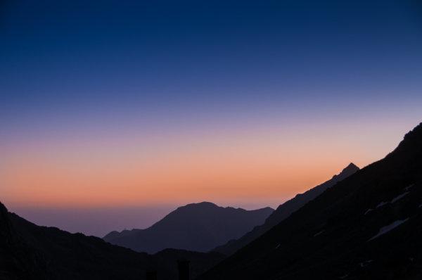 Sunrise from Refuge du Toubkal