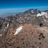 Descending from summit of Toubkal