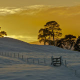 Winter Sunset in Scotland